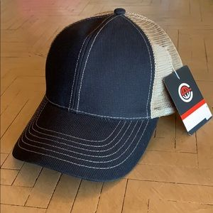 Other - Black & Tan Trucker Style Ball Cap Hat NWT